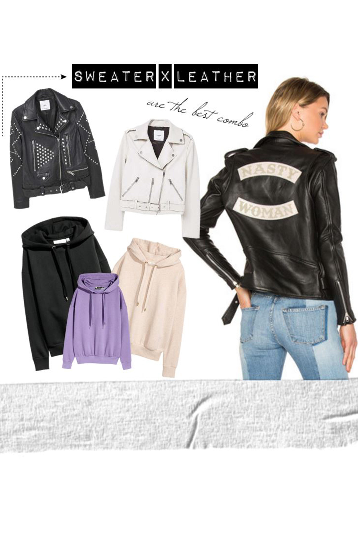 sweater-x-leatherjacket