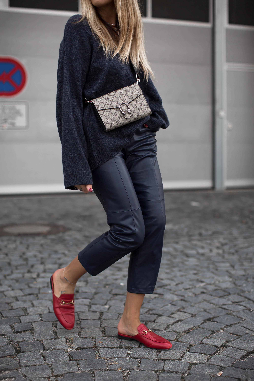black-palms-hm-faux-leather-pants-lederhose-fashionblog-gucci-slipper-3